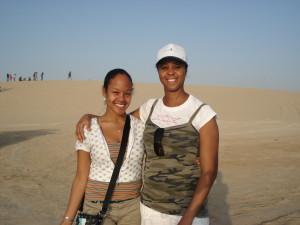 Me and my Mama! This was my first beach bbq