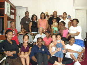 A rare family photo; almost all of my Mom's mom's family in one shot, minus the great-grandbabies =)