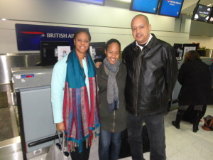 Here they are almost a year ago, seeing me off as I set out to spend 6 months in the United Arab Emirates