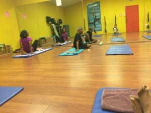First yoga class!