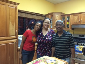 My Aunt Ruth and Uncle Clive (i.e. the best hosts EVER), and fellow first-time Carnival visitor Wyvolyn, from Jamaica