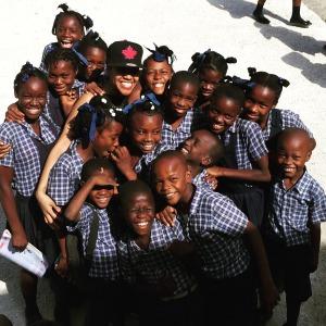 Cite Soleil schoolyard smiles